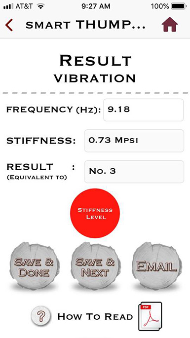 Vibration Results Page